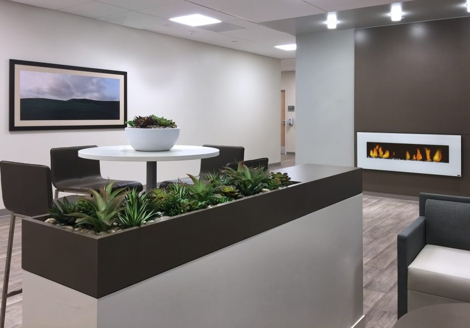living/moss wall designed for lobby area