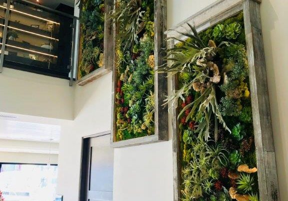 Replica moss wall designed for residential use