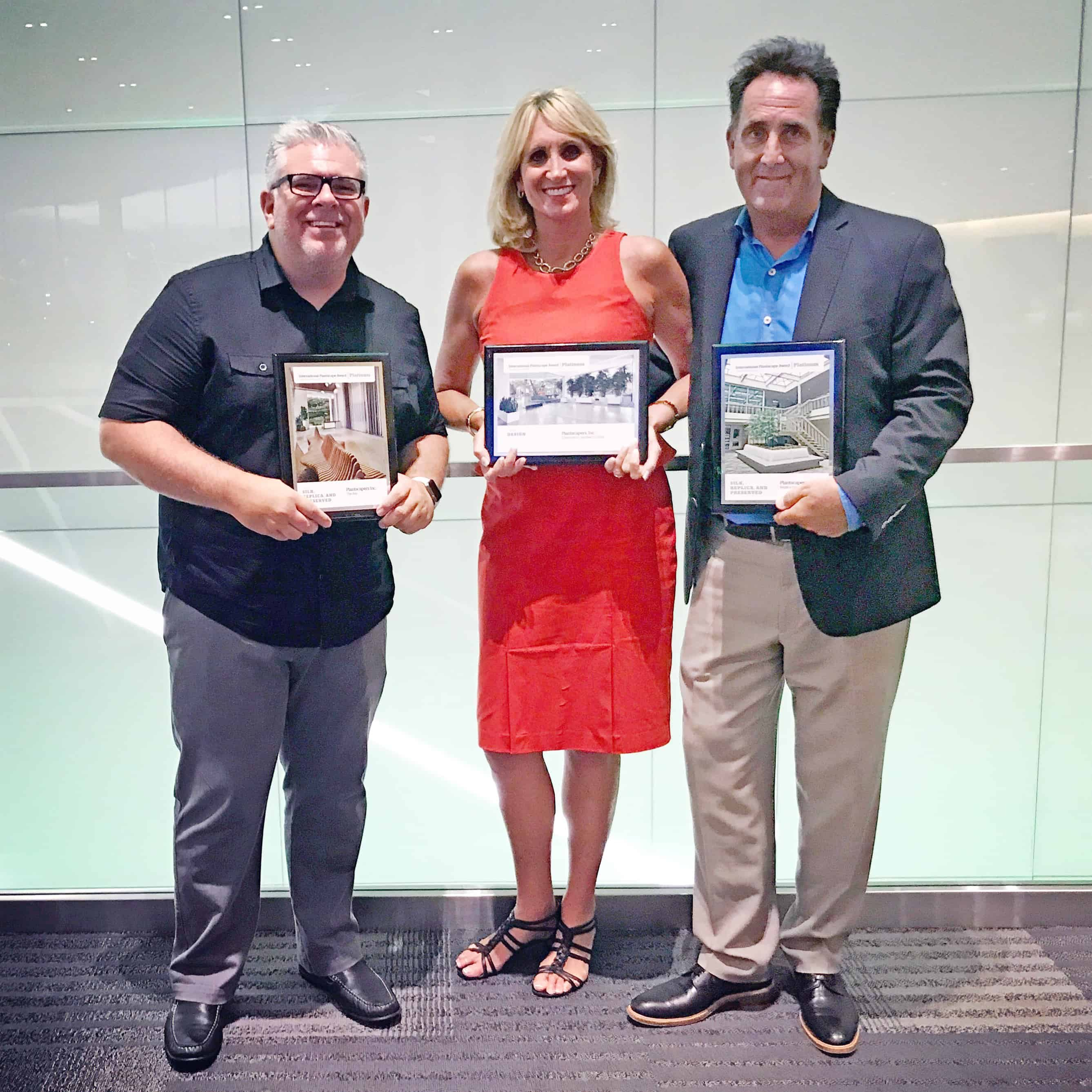 Jason, Julie and Mark receive platinum awards from American Hort.