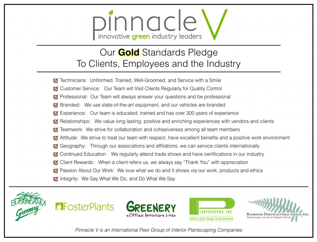 Plantscapers Gold Standards