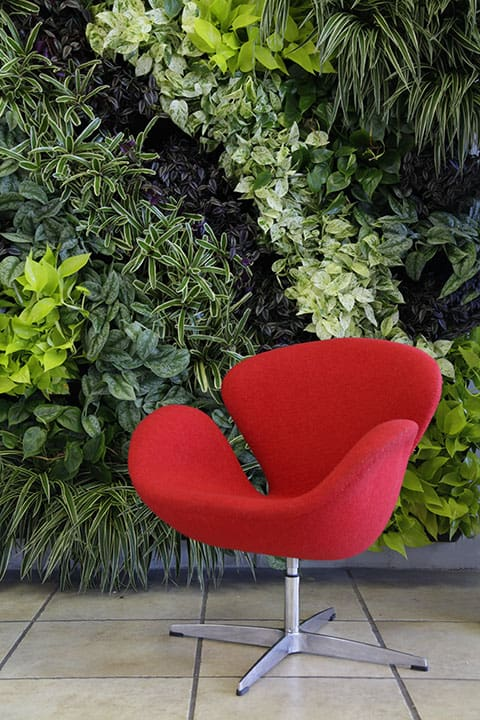 Modernism Wall with red chair