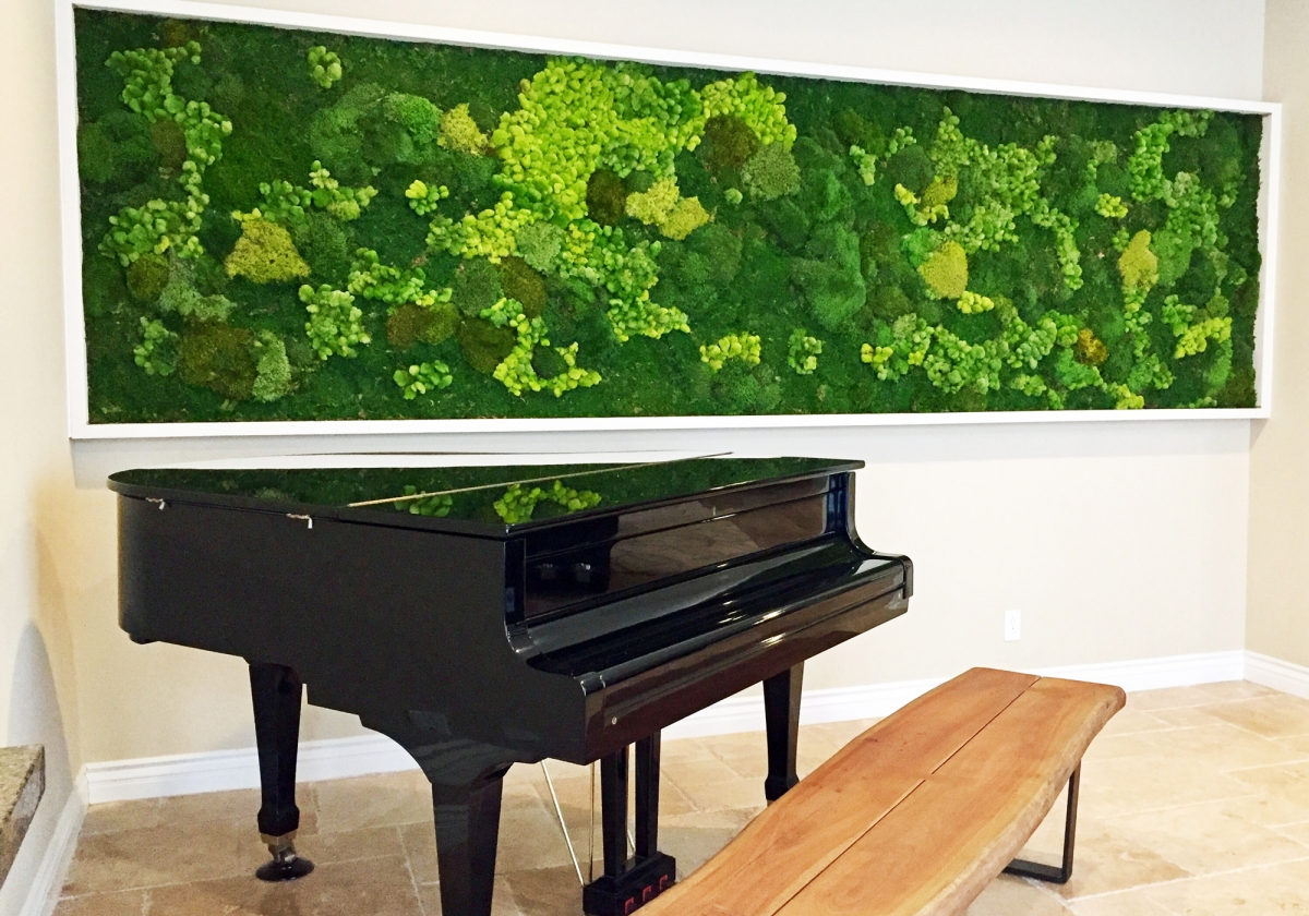 panoramic moss wall for residence