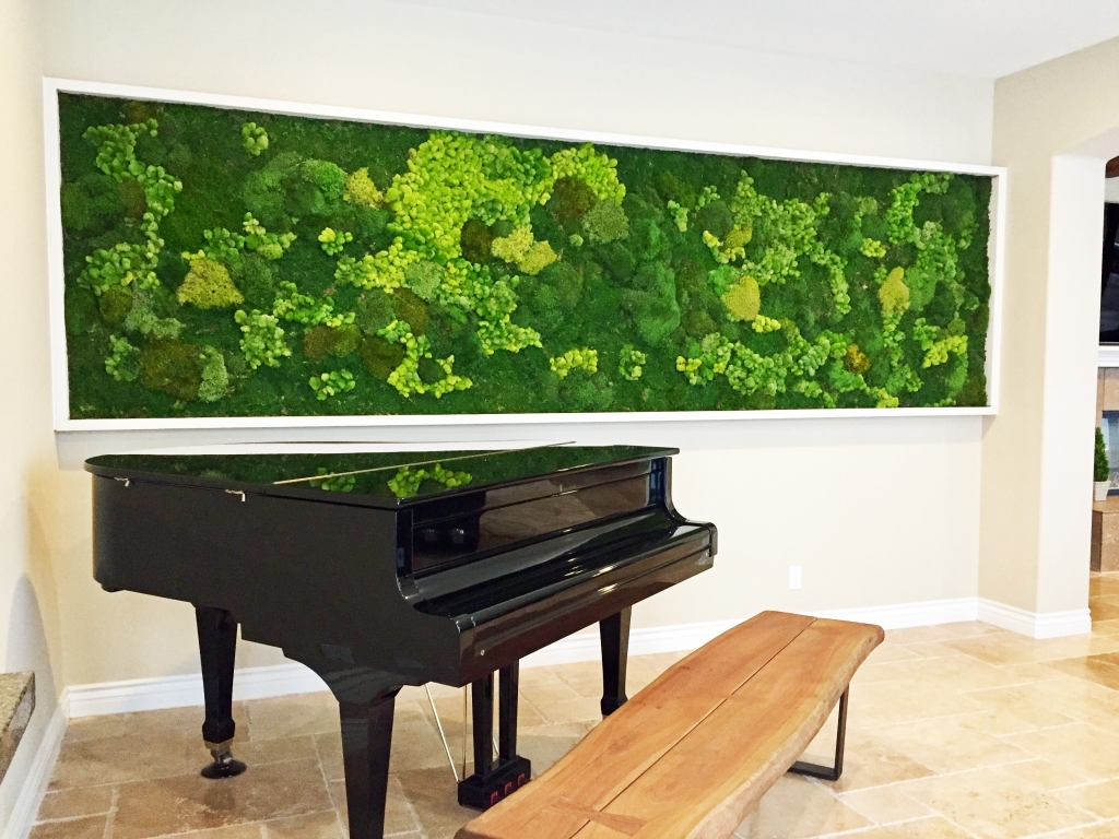 panoramic moss wall for private residence