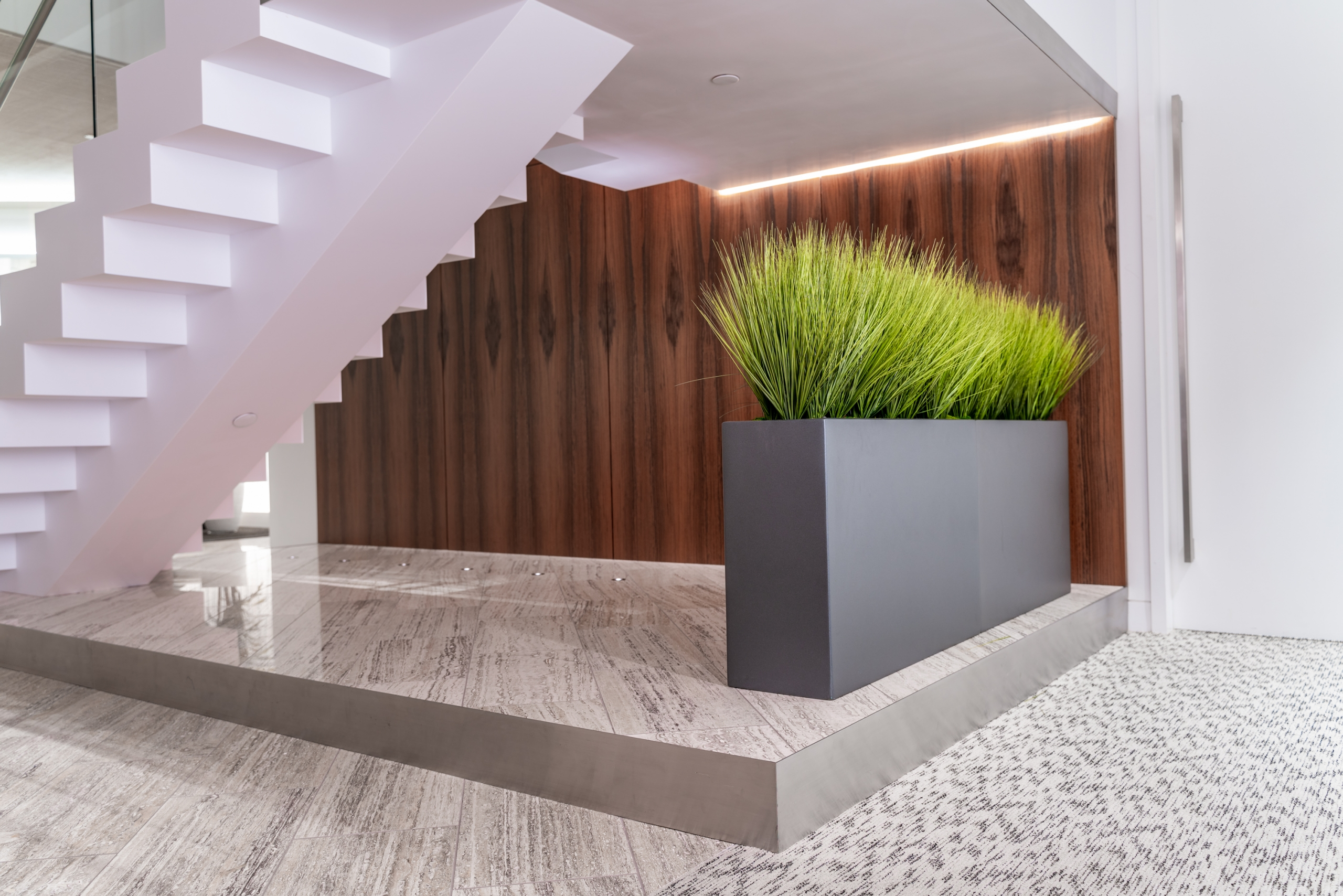 Grass with stairs