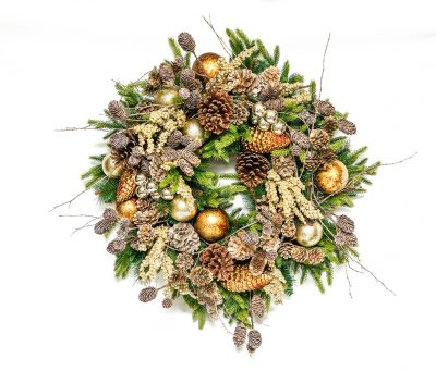 Gold and Natual Wreath